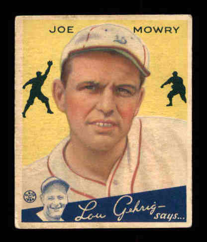 1934 Goudey #59 Joe Mowry RC