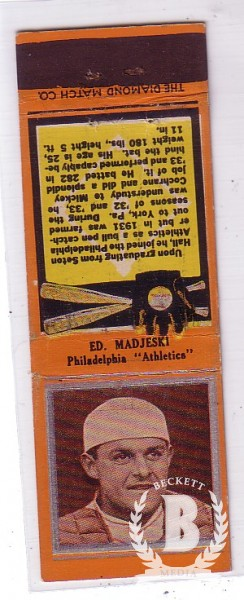 1934 Diamond Match Co. Silver Border #120 Ed. Majeski