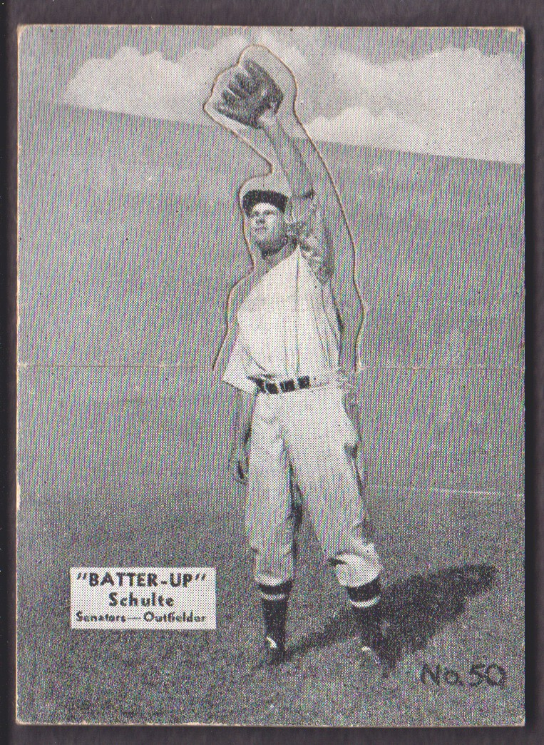 1934-36 Batter-Up #50 Fred Schulte