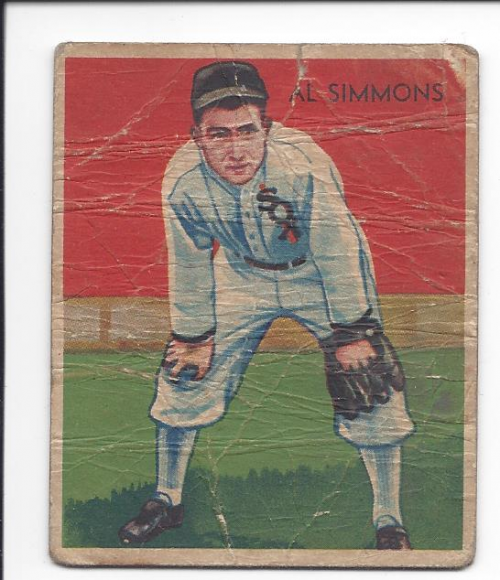1934-36 Diamond Stars #2A Al Simmons/34G, 35G/Sox on uniform