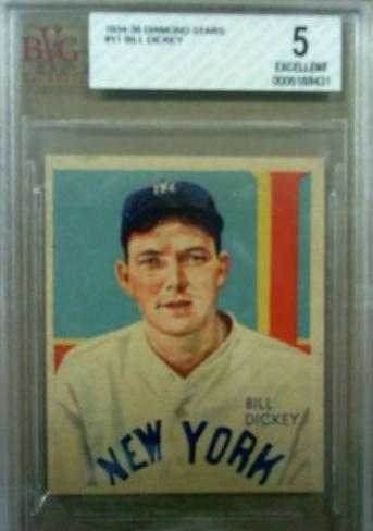 1934-36 Diamond Stars #11 Bill Dickey/34G, 35G
