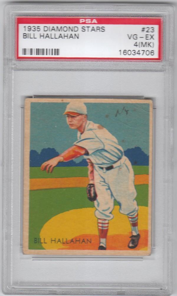 1934-36 Diamond Stars #23 Bill Hallahan/34G, 35G