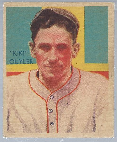 1934-36 Diamond Stars #31A Kiki Cuyler 35G/Chicago Cubs