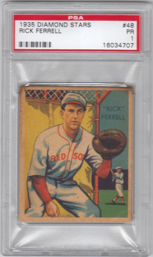 1934-36 Diamond Stars #48 Rick Ferrell (35G)