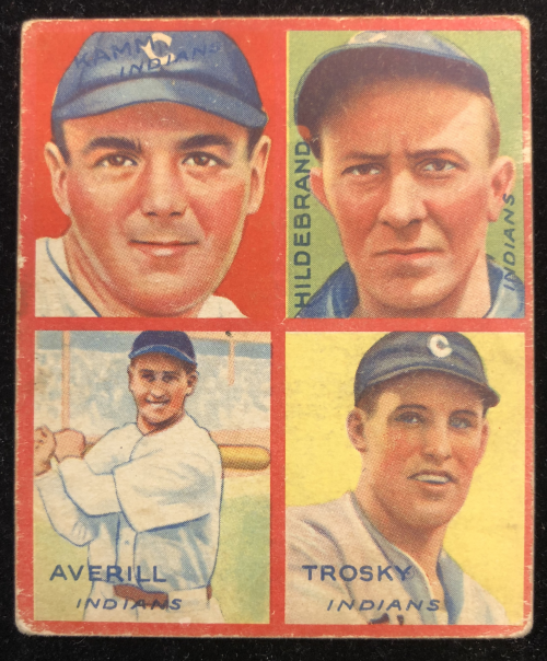 1935 Goudey 4-in-1 #16-2 Willie Kamm/Oral Hildebrand/Earl Averill/Hal Trosky/2E (Chuck Klein Puzzle)