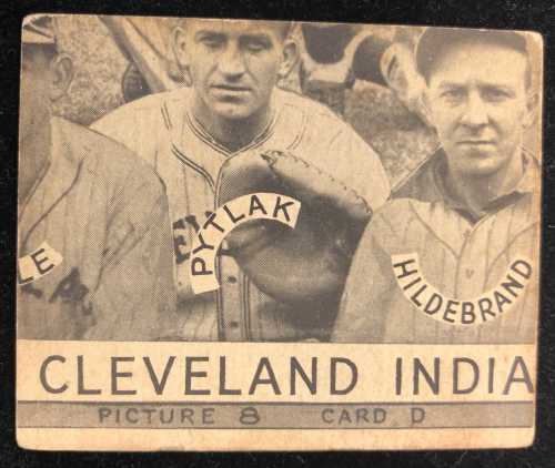 1935 Goudey 4-in-1 #3-8 Bruce Campbell/Billy Meyers/Ival Goodman/Alex Kampouris XRC/8D (Cleveland Indians Puzzle) back image