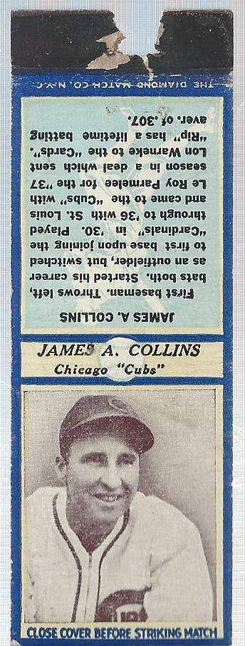 1936 Diamond Match Co. Series 3 Type 2 #4 James A. Collins