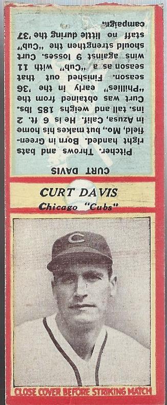 1936 Diamond Match Co. Series 3 Type 2 #5 Curt Davis