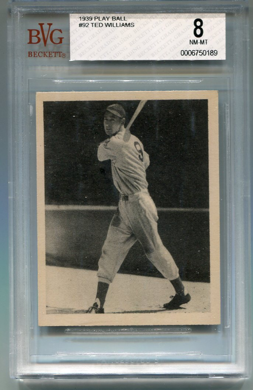 1939 Play Ball #92 Ted Williams RC