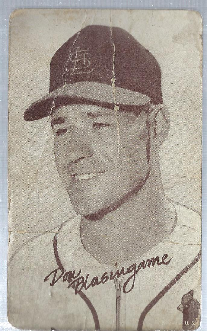 1947-66 Exhibits #23A Don Blasingame/St. Louis cap