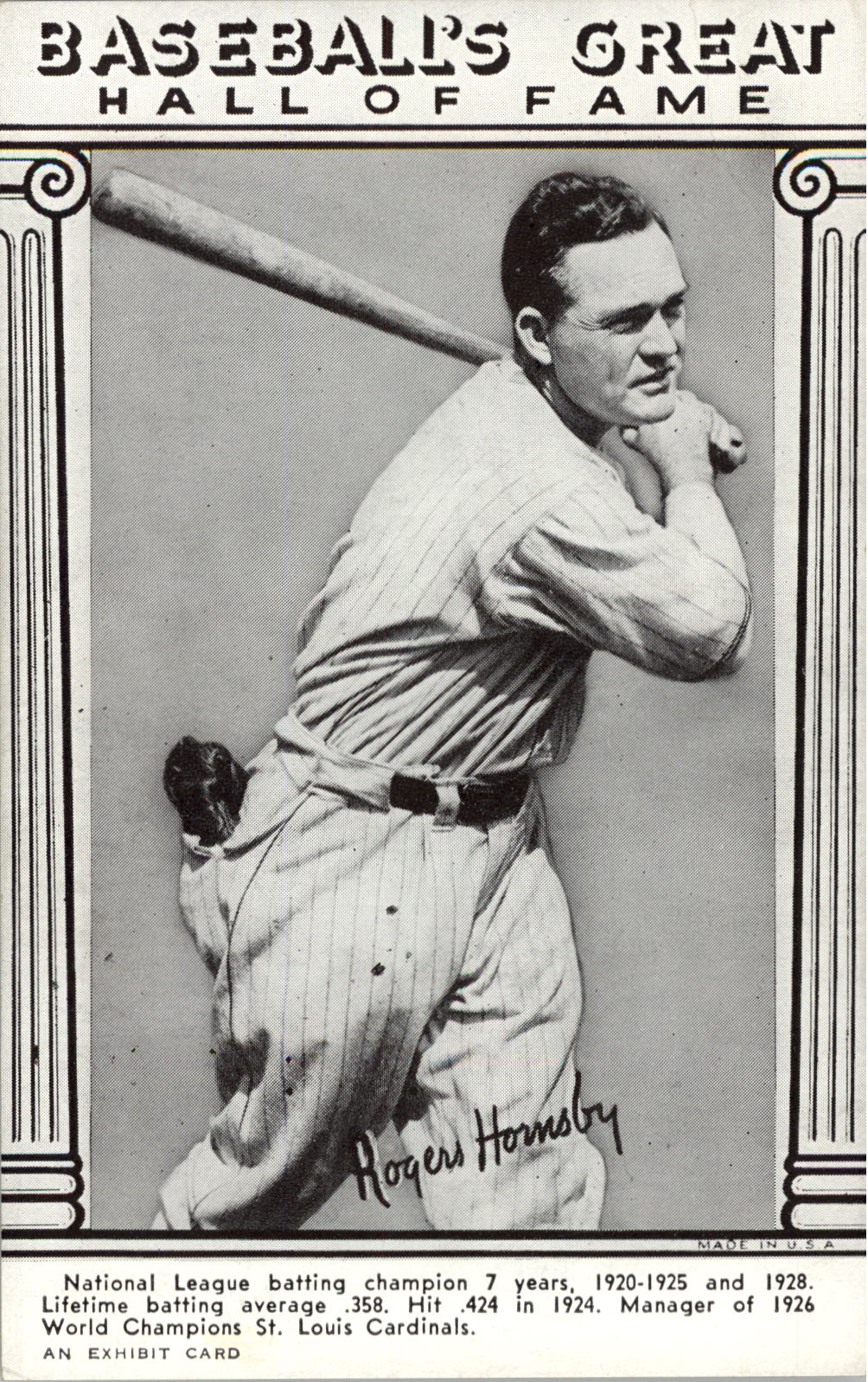 1948 Exhibit Hall of Fame #15 Rogers Hornsby