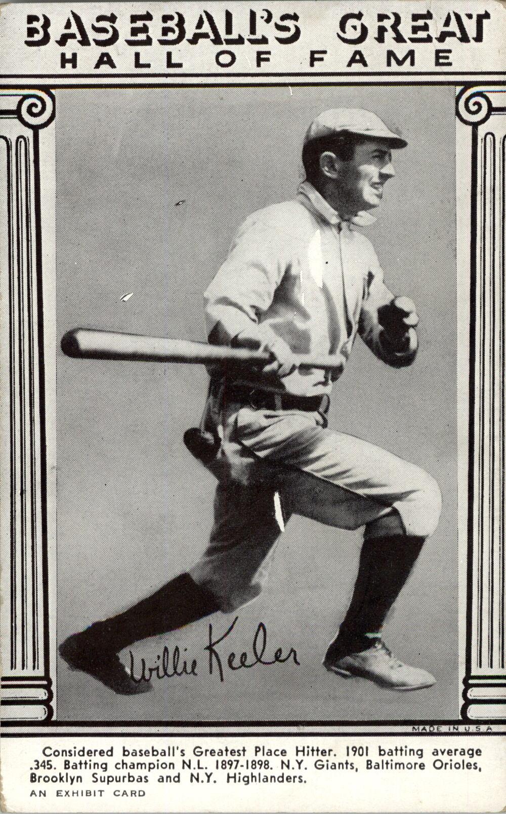 1948 Exhibit Hall of Fame #19 Willie Keeler