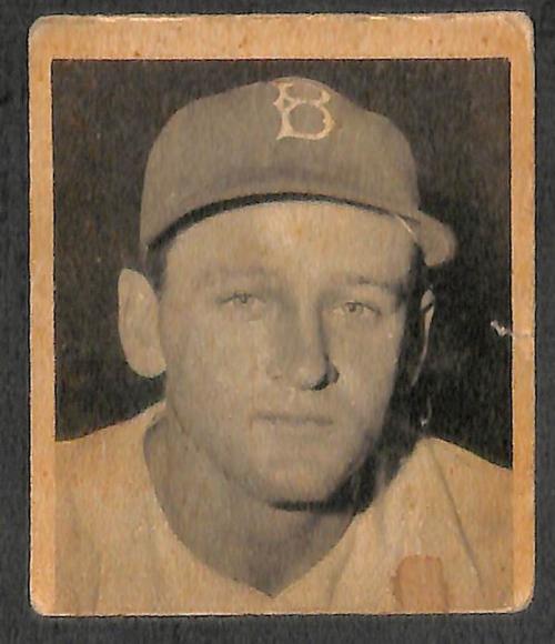 1948 Bowman #43 Bruce Edwards RC