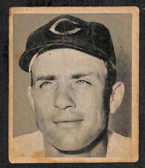 1948 Bowman #44 Johnny Wyrostek RC
