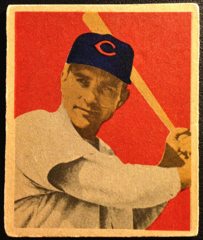 1949 Bowman #37 Johnny Wyrostek