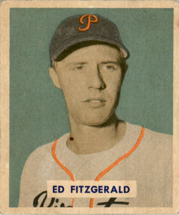 1949 Bowman #109A Ed Fitzgerald Script RC(player name in script on back)