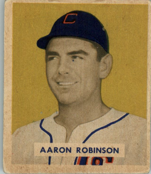 1949 Bowman #133 Aaron Robinson RC