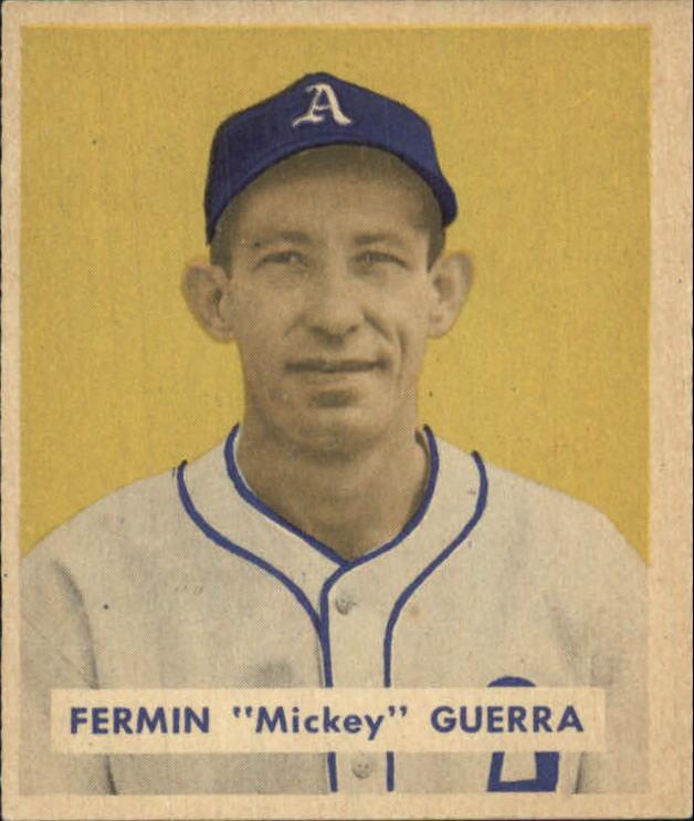 1949 Bowman #155 Mickey Guerra RC