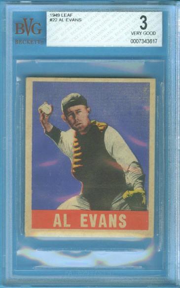 1949 Leaf #22 Al Evans RC