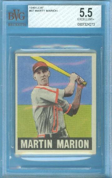 1949 Leaf #97 Marty Marion