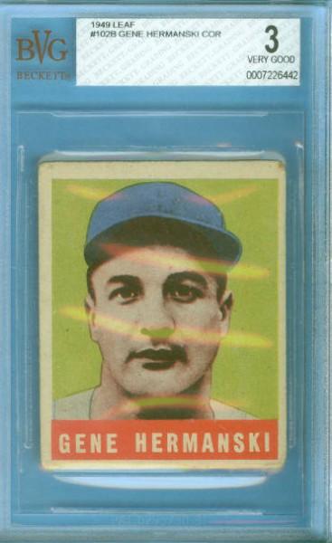 1949 Leaf #102B Gene Hermanski COR RC