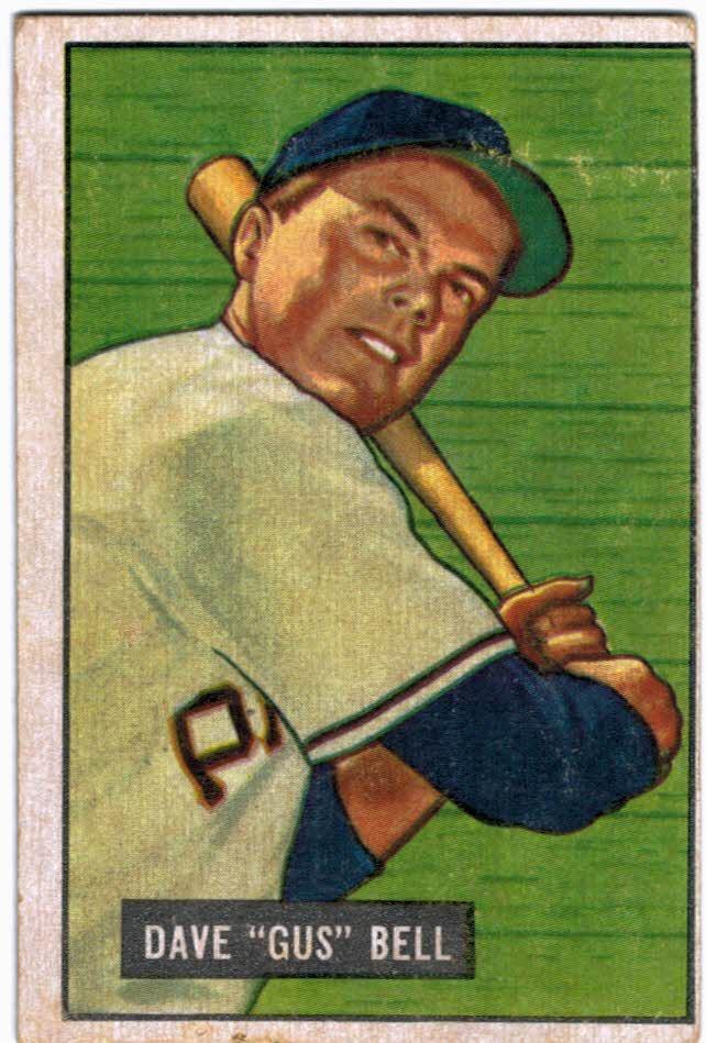 1951 Bowman #40 Gus Bell RC