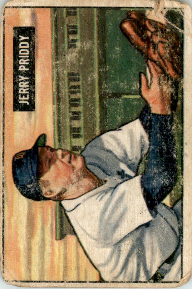 1951 Bowman #71 Jerry Priddy