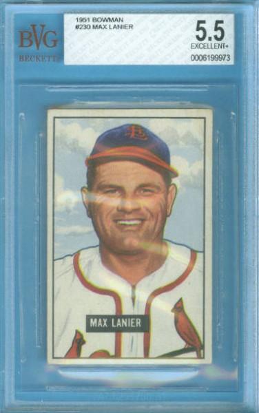 1951 Bowman #230 Max Lanier