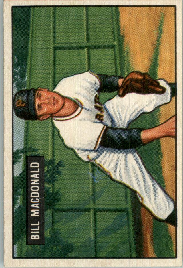 1951 Bowman #239 Bill MacDonald RC