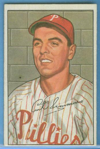 1952 Bowman #184 Curt Simmons