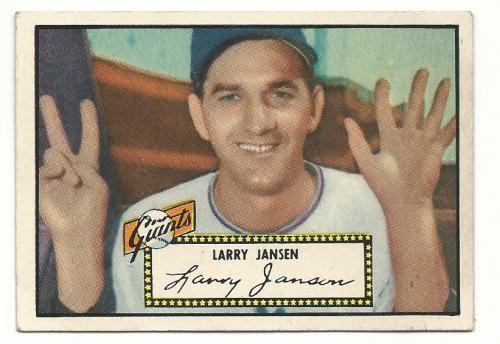 1952 Topps #5A Larry Jansen Black