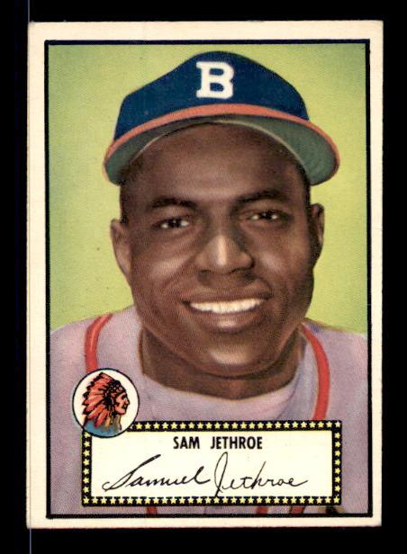 1952 Topps #27A Sam Jethroe Black