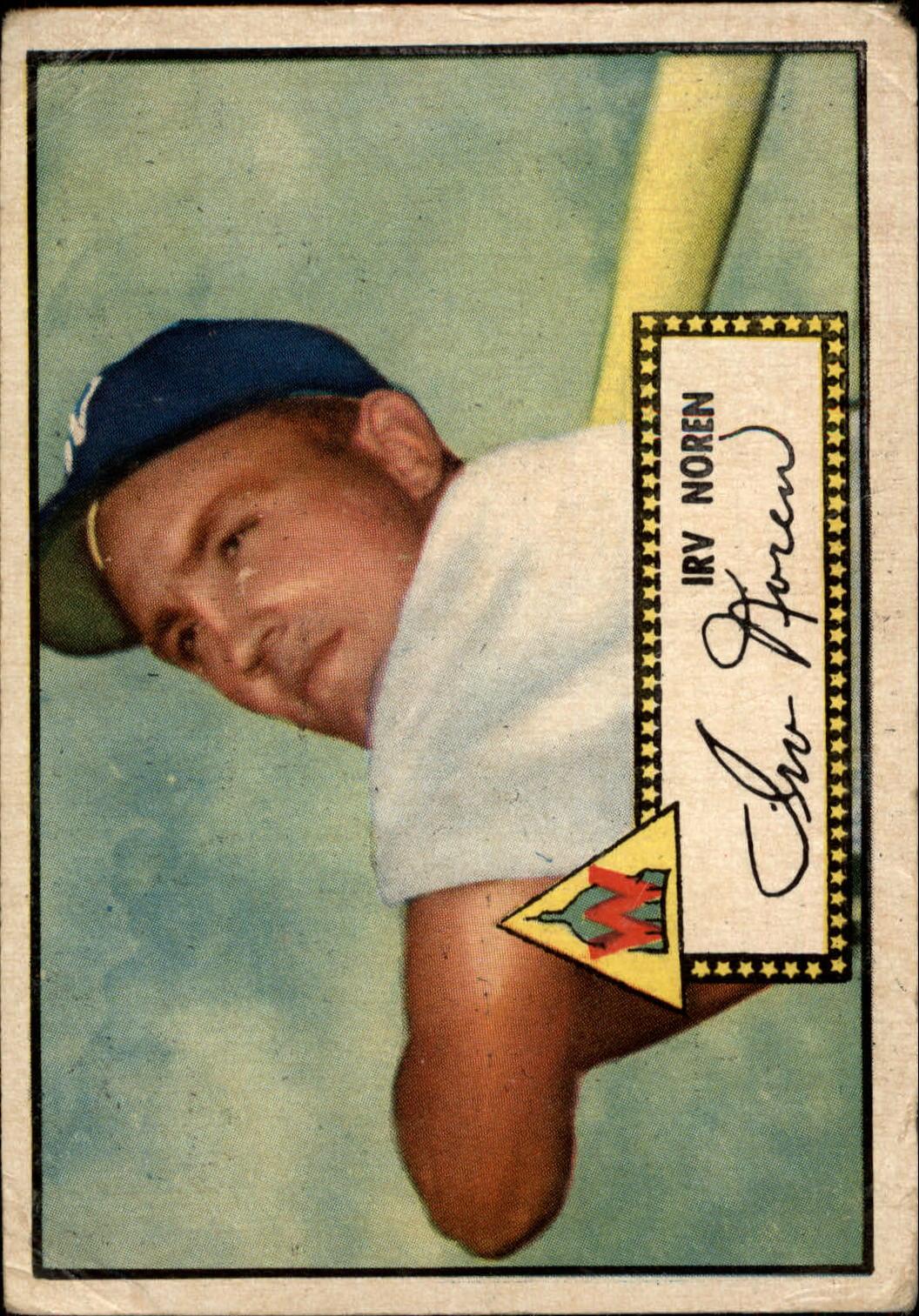 1952 Topps #40A Irv Noren Black