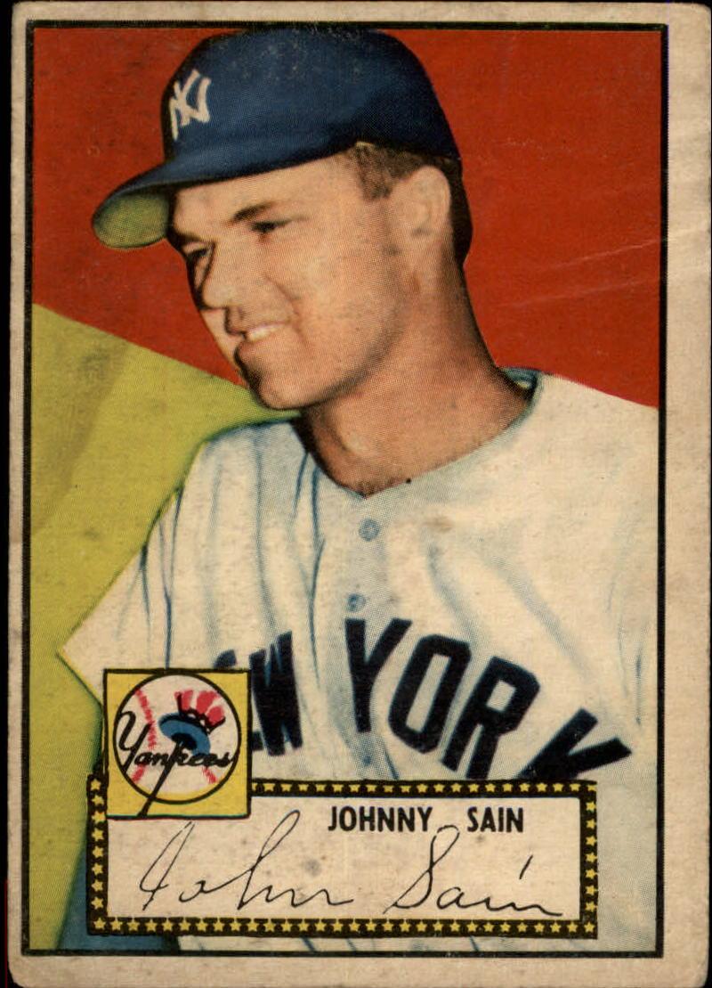 1952 Topps #49C John Sain COR/Red Back