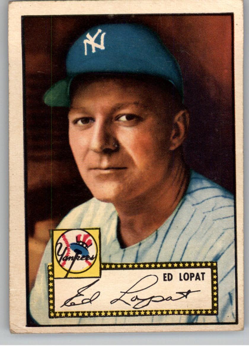 1952 Topps #57 Ed Lopat