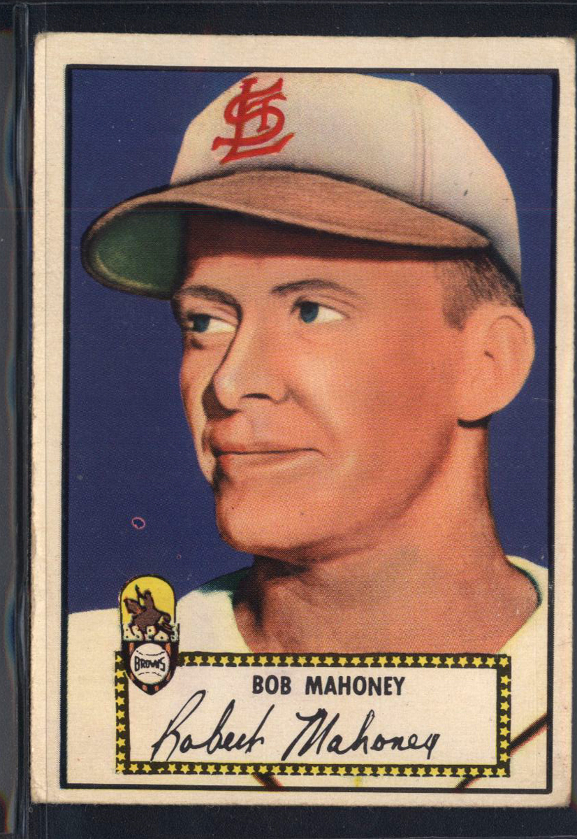 1952 Topps #58 Bob Mahoney RC