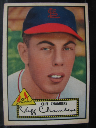1952 Topps #68A Cliff Chambers Black