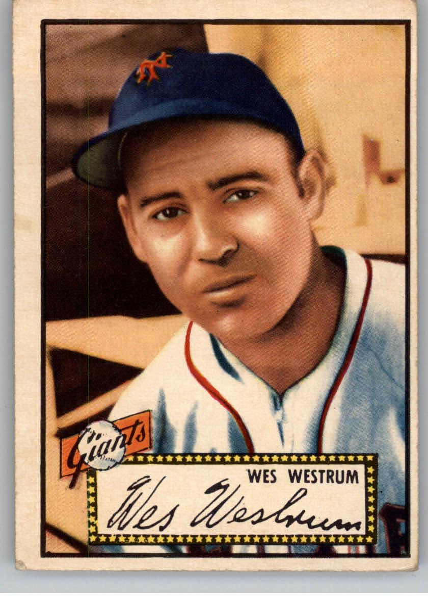 1952 Topps #75 Wes Westrum