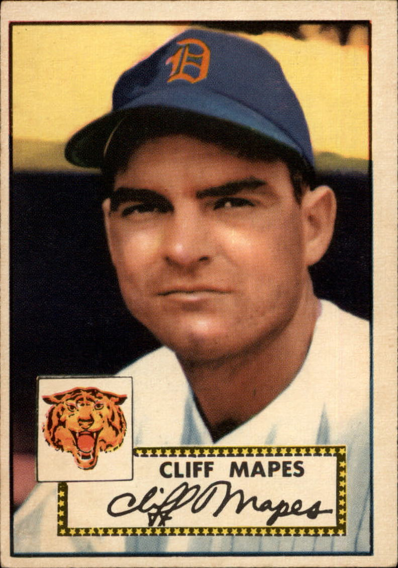 1952 Topps #103 Cliff Mapes