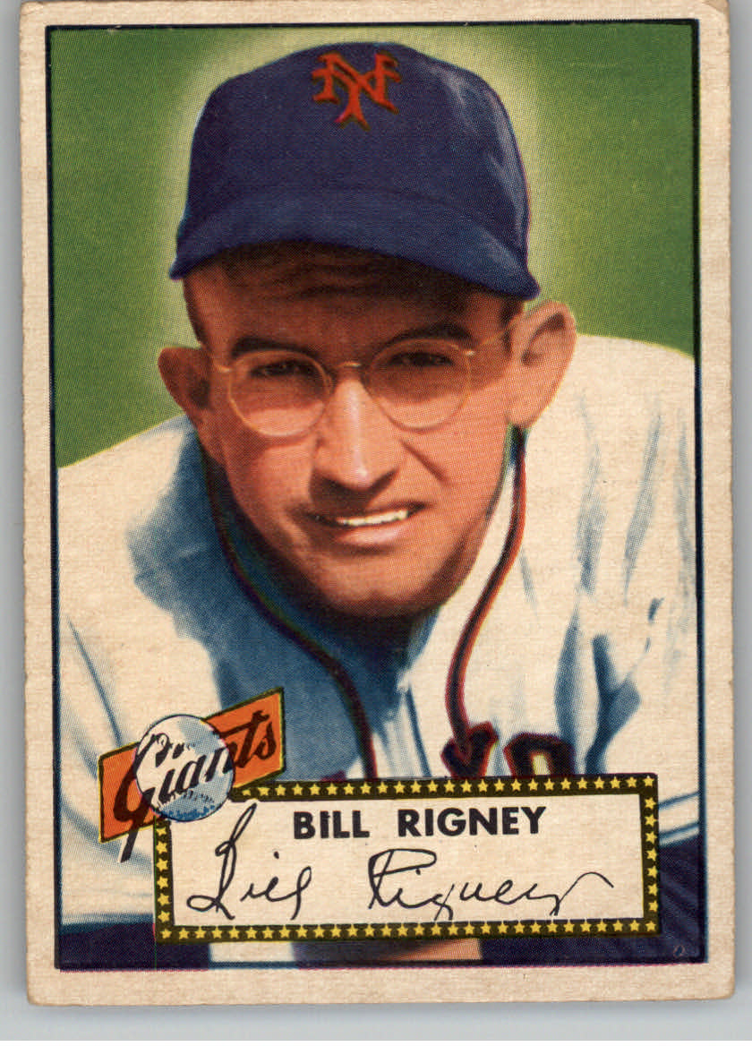 1952 Topps #125 Bill Rigney