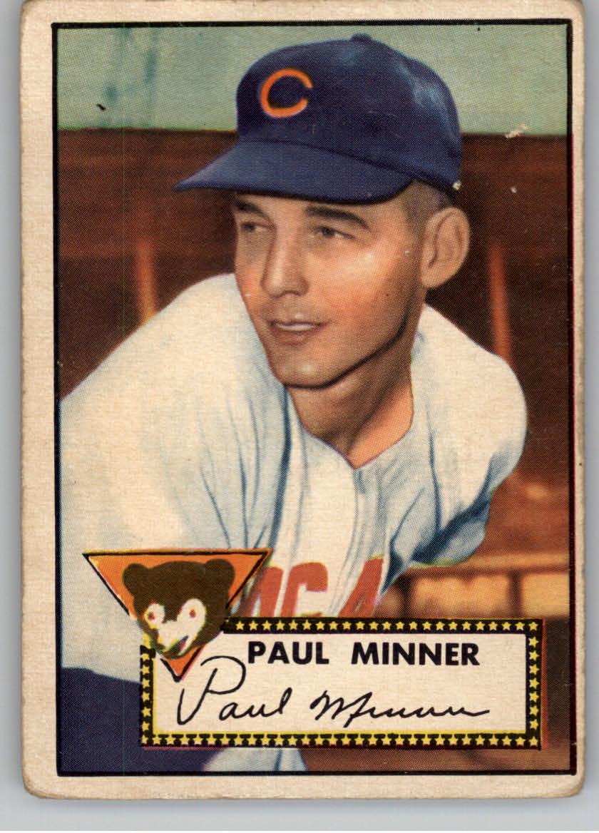 1952 Topps #127 Paul Minner RC