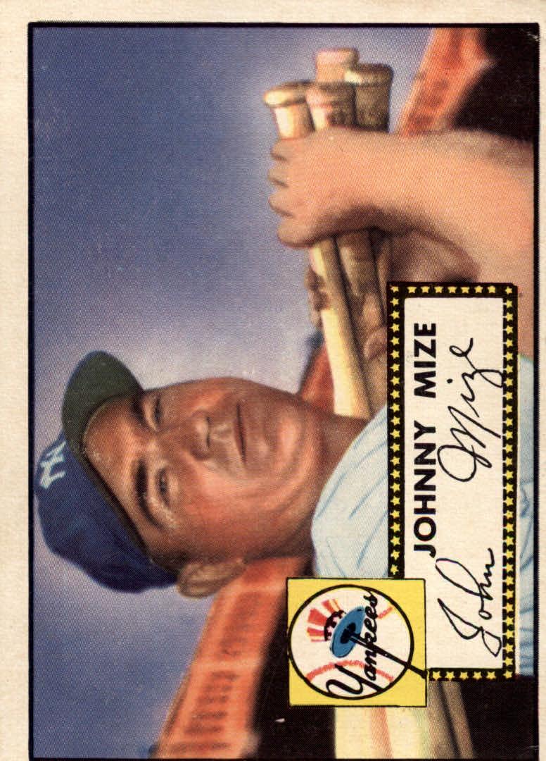 1952 Topps #129 Johnny Mize
