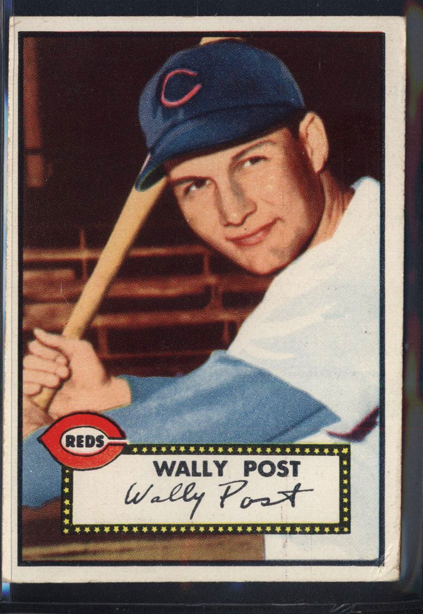 1952 Topps #151 Wally Post RC