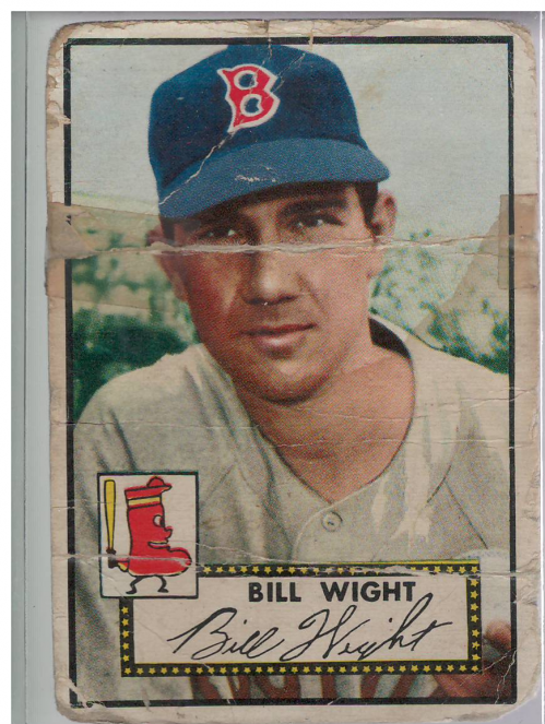 1952 Topps #177 Bill Wight