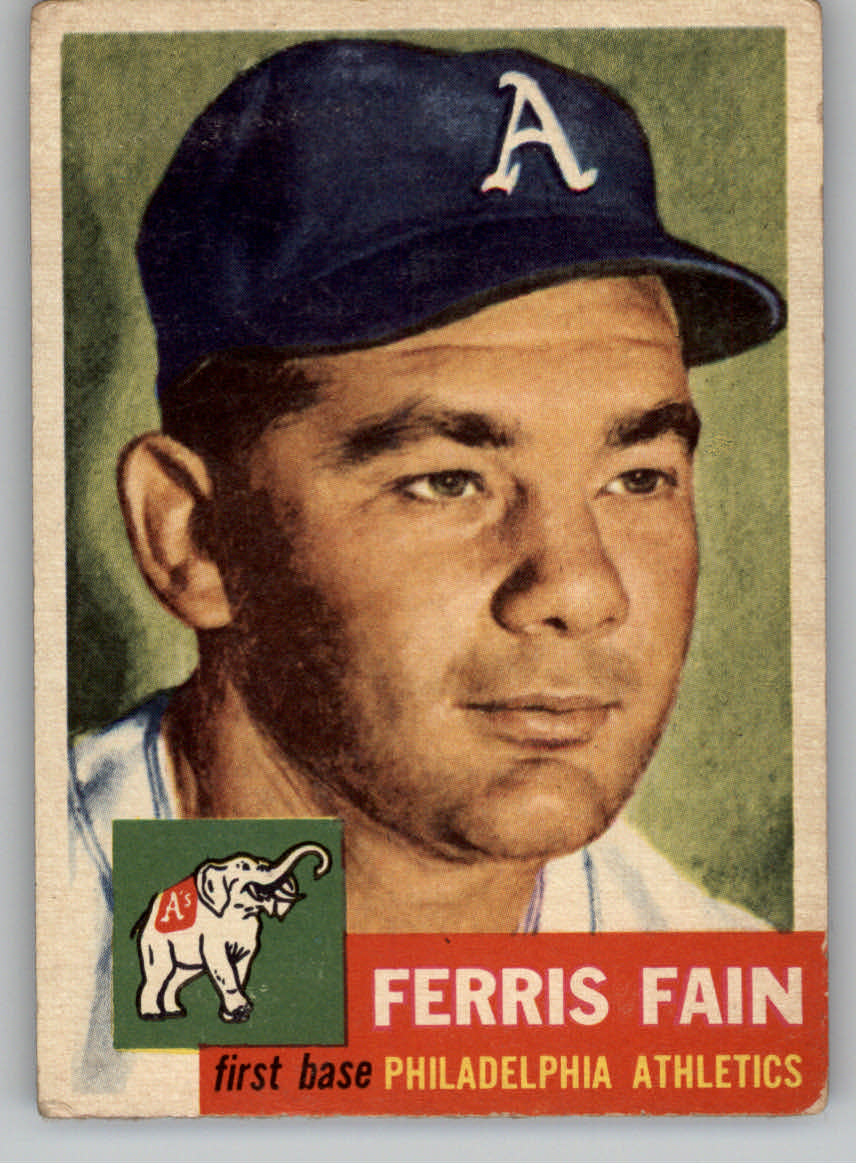 1953 Topps #24 Ferris Fain