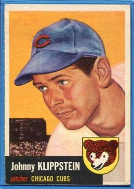 1953 Topps #46 Johnny Klippstein DP