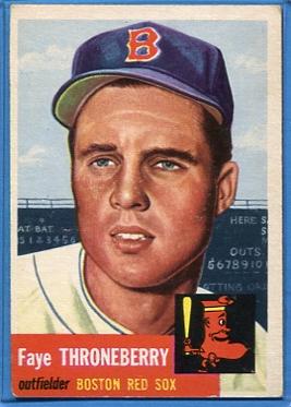 1953 Topps #49 Faye Throneberry DP