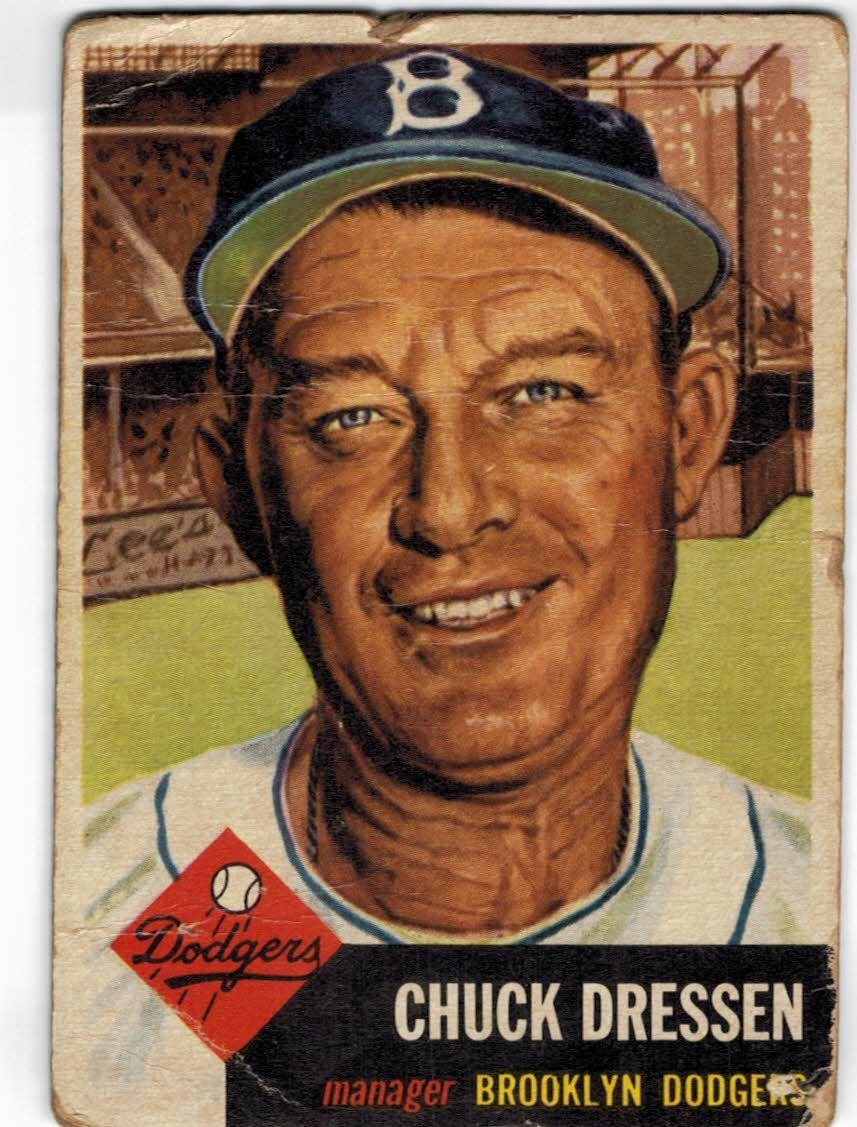 1953 Topps #50 Chuck Dressen MG DP