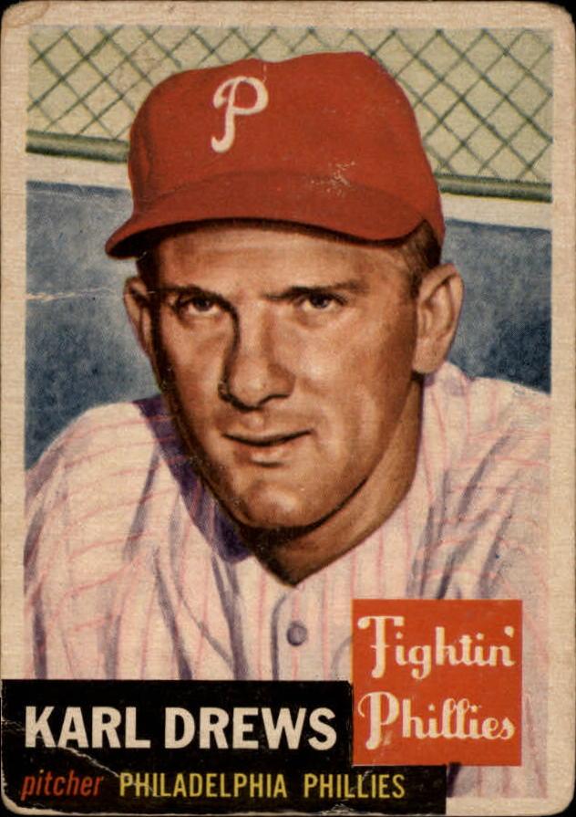 1953 Topps #59 Karl Drews DP