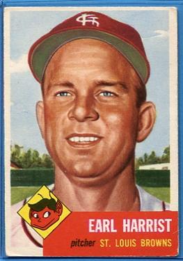 1953 Topps #65 Earl Harrist